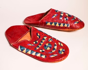 Red dress jacket mens house slippers