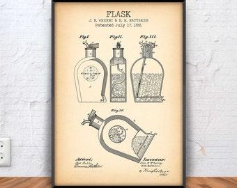 Bar spoon poster bar spoon patent bar spoon blueprint bar flask poster flask patent flask blueprint flask illustration liquor alcohol malvernweather Choice Image