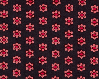 Mod Corsage Stamped Fabric - Coral - by Anna Maria Horner for Free Spirit Fabrics