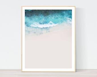Beach print, ocean photography, coastal print, scandinavian print, scandinavian art, landscape prints, seascape, ocean print, aerial print