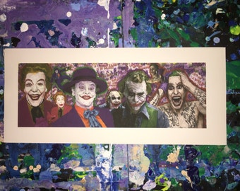 The Joker Evolution Comic Digital Print