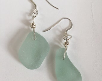 Seafoam Seaglass Earrings