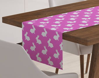 Easter Table Linen | Pink Easter Table Runner | Easter Table Topper | Easter Table Decor | Easter Bunny | Easter Table Decorations