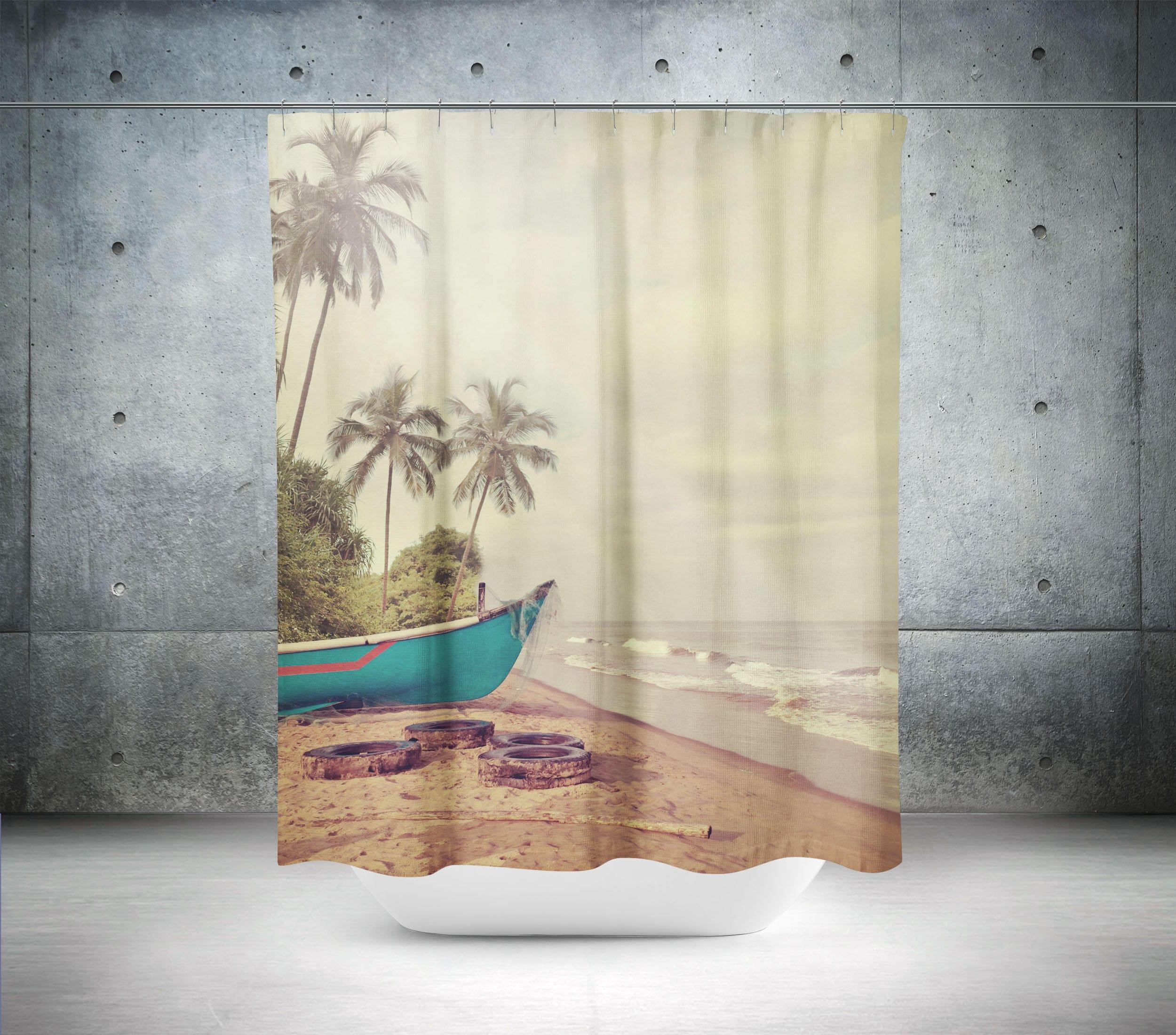 coastal shower curtain beach shower curtain beach theme. Black Bedroom Furniture Sets. Home Design Ideas