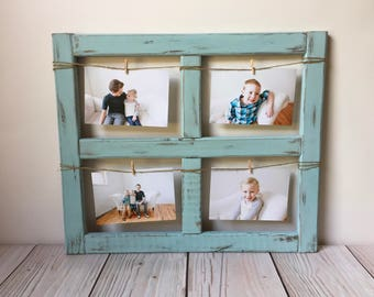 Window Frame - Picture Frame - Gift  - Farmhouse Decor - Old Window - Farmhouse - Rustic Home Decor - Wood Frame - Wood Picture Frame