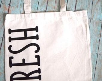 Fresh Market tote; Canvas tote; Farmers' Market, Market Bag
