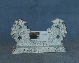 Business Card Holder - Cast Iron - Bird Theme