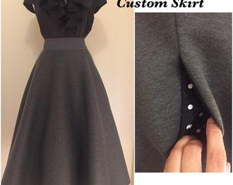 Scuba/Neoprene Circle Skirt