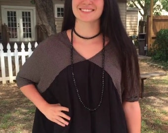 Black Double Wrap Necklace - CLEARANCE