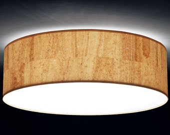 Ceiling lamp, D.60 cm, cork