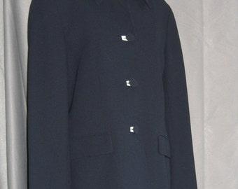 On Sale Navy Blue Blazer White Accents