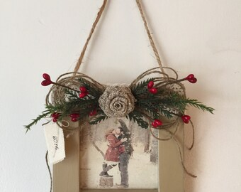 Personalized Picture Frame, Personalized Frame Christmas Ornament, Picture Frame Ornament, Christmas Picture Frame