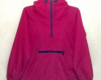Vintage L.L. BEAN Freeport Maine Thinsulate 3M Half Zipper Ladies Jacket Hoodies Medium Size Made In Usa