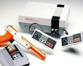 Free SHIPPING- Nintendo Entertainment System Action Set- Mario/Duckhunt Game INCLUDED! Makes a great gift for Old SCHOOL Gamers!