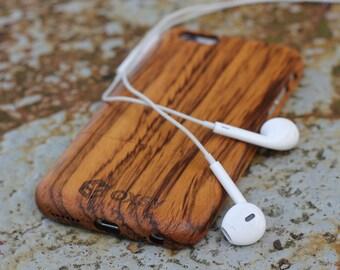 Wood iPhone Case | Wood Apple Case | iPhone 7 Cover | iPhone 7 Case | Real Wood Case | Genuine Wood Cover | Gift Idea | Apple Case