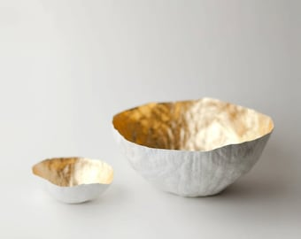 Small Gold Paper Bowl