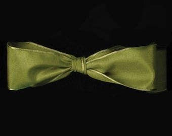 """CLEARANCE - 3/8"""" French Wired Taffeta Ribbon - Soft Pine - 54YDS - Only 1 Roll Left"""