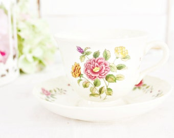 Vintage Wedgwood Charlecote Teacup & Saucer | Vintage Teacup, Floral Teacup, Wedgwood Teacup, English Teacup, Tea Party Teacup