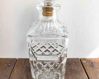 Liquor Bottle - Vintage Crystal Drambuie Decanter, Prince Charles Edward's Isle of Skye Scotch Whiskey Liqueur, 750ml Bottle, Stopper/Cork