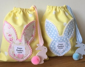 Mini personalised Easter bags