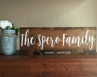 Name Sign, Family Name Sign, Custom Name Sign, Family Established Sign, Wedding Gift, Housewarming Gift, Custom Family Sign, Custom Gift