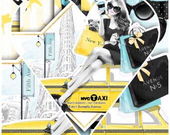 New York City Girl Sticker Kit