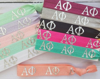ALPHA PHI Letters Hair Ties | Choose Your Own Hair Tie | 1 Hair Tie