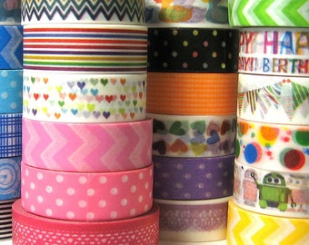 Washi tape 24 NEW designs for party decorations baby shower gift DIY paper craft scrapbooking adhesive tape wedding favours and gifts