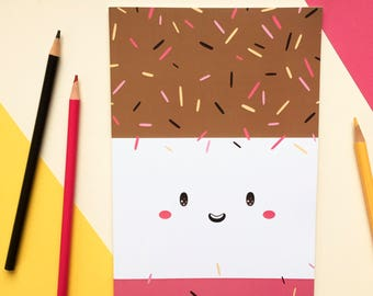 Fab - A5 Notebook - Jotter - Plain Notebook - Sketchbook - Ice Lolly - Bright - Happy - Fun Food - Gift - Stationery