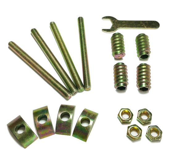 Wood Bed Rail Assembly Hardware Nuts Bolts Crescent Nuts