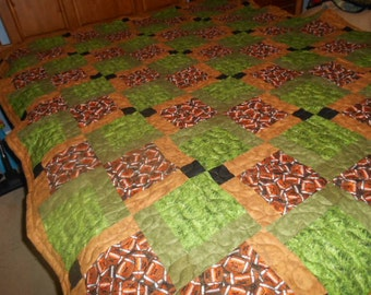 Football quilt with beautiful color blends