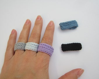 Crochet ring, women's rings, coton ring, crochet jewelry, simple ring, washable ring, minimalist ring