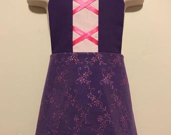 Rapunzel Princess Dress Up Apron - Tangled Reversible