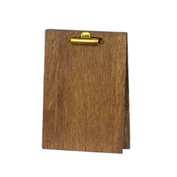 Wood Table Tent Clipboard Restaurant Table Tent Bar Top