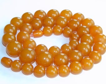 vintage RUSSIAN AMBER necklace honey colour ~73g ~ collectable~ inA2638
