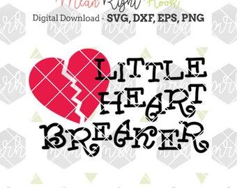 Little Heart Breaker SVG, Valentines svg, heart svg, kids and baby design, INSTANT DOWNLOAD vectors for cutting machines, svg, png, dxf, eps