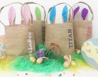 Personalized Bunny Ears Easter Bags!! QIUCK SHIP