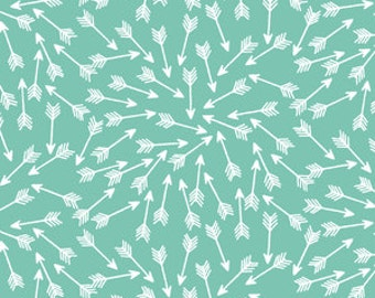 Arrows in succulent  baby Crib Fitted Sheet, crib bedding, bee, neutral, bumble bee
