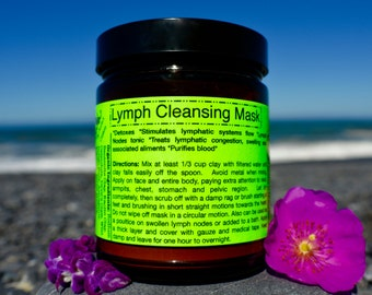Lymph Cleansing Body Mask-Organic, Detoxifying/ Stimulates lymph drainage relieving congestion, swollen nodes/ Lymph tonic/ Purifies blood