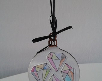 Modern Tree Decoration, Christmas Tree Decoration, Wooden Bauble.