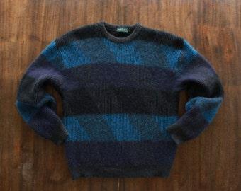 Blue Wool Argyle Sweater