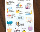 Outdoors Quality Time Stickers - Family Time Planner Stickers - Children - Kid Stickers - Summer Bucket List Stickers - Mom Stickers