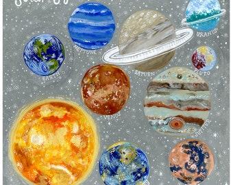 Sparkly Solar System