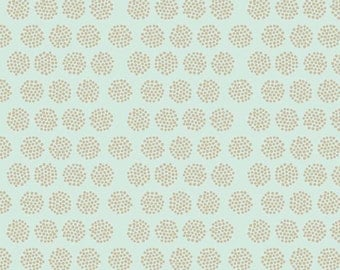 Riley Blake, Good Natured, Fireflies Mint, by Marin Sutton, 100% Cotton, By the Yard, C4082 Mint