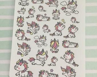 Mini Unicorn Stickers