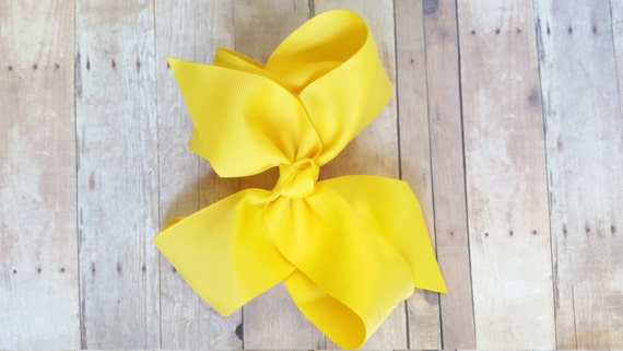 Hair Bow Clip, Yellow Bow Holder, Bows For teens, Bows For Baby Girls, Hair Clips Girls, Large Hair Bow, Ribbon Bows, Barretes, Large Bow