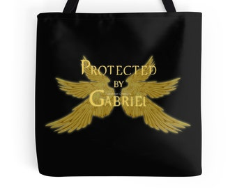 Supernatural Protected by Gabriel Tote Bag, 3 Sizes Available! - Archangel