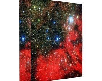 3 Ring Binder, Gold Dusted Galaxy Book, 4 Sizes Available!