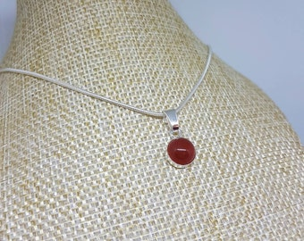 Carnelian necklace | semiprecious,crystal,gemstone | gifts,gift for her,gift for mum/mom,wedding | red