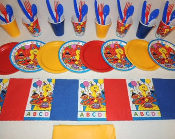 49 Piece Sesame Street Abc Place settings Table Decorations Party Supplies